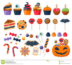 halloween vector free halloween party colorful sweets icons set vector stock vector