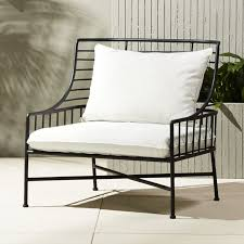 Breton Black Metal Chair CB - Black outdoor furniture