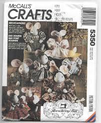 Sewing Patterns Home Decor Uncut Sewing Pattern Mccall U0027s 5350 Mice Mouse Micecapades