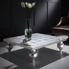 silver side table uk coffee table amazing silverfee table image inspirations mosaic