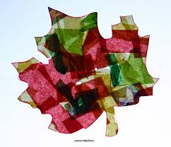 stained glass leaves craft