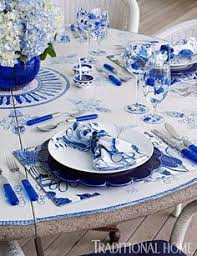 cobalt blue table l a love affair with blue white the collected room by kathryn