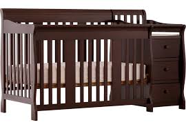 Espresso Convertible Cribs Portofino Espresso Crib And Changer Combo Cribs Wood