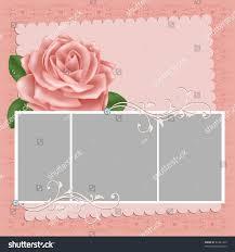 blank wedding photo frame postcard greetings stock vector 61341223