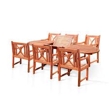 Wayfair Patio Dining Sets - meadow decor kingston 7 piece round patio dining set pacifica 7