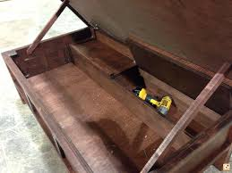 coffee table with hidden gun storage plans hidden gun cabinet coffee table plans http therapybychance com