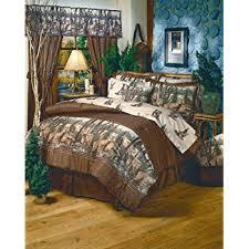 Queen Comforter On King Bed Amazon Com Whitetail Dreams Queen Comforter Set Home U0026 Kitchen
