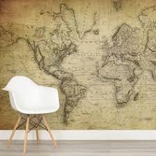 ag e murale bureau earth tone map mural wallpaper wallpaper room and bedrooms