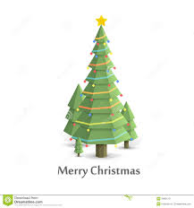 Christmas Tree Songs Christmas Tree In The Woods Flat Style Stock Vector Illustration
