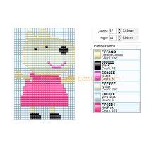 suzy sheep peppa pig cartoon character free perler beads design