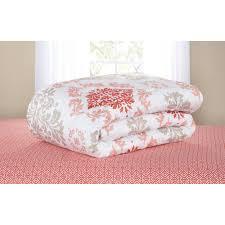 Damask Bedding Mainstays Coral Damask Bed In A Bag Bedding Set Walmart Com