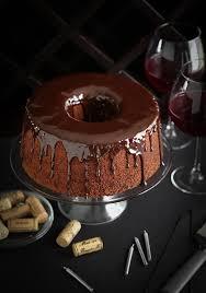 Wine Chocolate Chocolate Red Wine Chiffon Cake Sprinkle Bakes