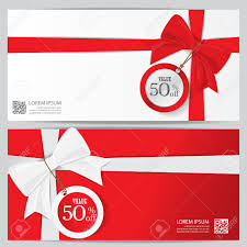 christmas holiday and new year gift voucher certificate coupon