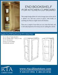 adding extra storage space to the end of your wall cabinets by