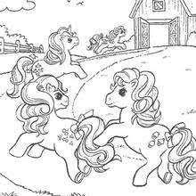 pony u0027s portrait coloring pages hellokids com