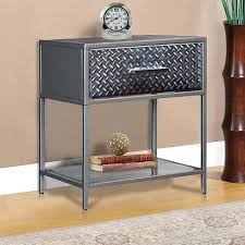 Metal Nightstands With Drawers Side Table Metal Bedside Table With Drawer Metal Bedside Table