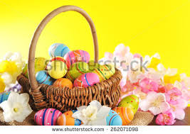 painted easter baskets easter basket stock images royalty free images vectors