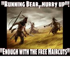 running bear hurry up ienough with thereenaircutsii meme on