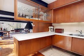 mirrored kitchen cabinet doors midcentury with retro cabinets