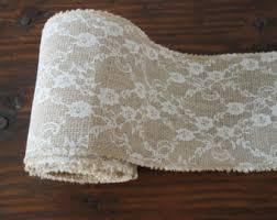 burlap and lace ribbon 5 x meters or 3 x meters burlap ribbon hessian ribbon jute lace