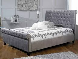 limelight orbit plush silver fabric bed frame u2013 dublin beds