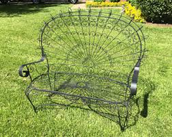 Vintage Wrought Iron Patio Furniture Etsy - Antique patio furniture