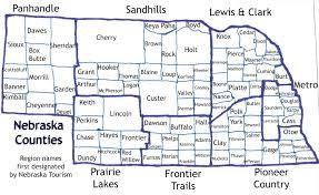 Iowa Counties Map The Ninety Three Nebraska Counties Odyssey Through Nebraska