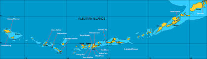 map of aleutian islands map of aleutian islands