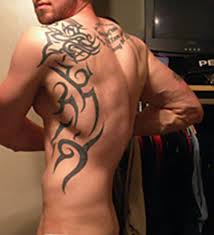 athletic with back tribal tattoos tattoomagz