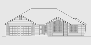 two bedroom two bath house plans one level house plan 3 bedroom 2 bath 2 car garage 55 ft wide