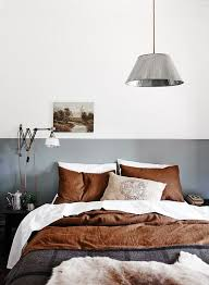 Mens Bedroom Design by Copper And White Bedding U2026 Pinteres U2026