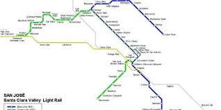 san jose light rail map light rail map san jose san jose light rail map california usa
