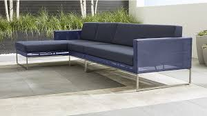 dune 3 piece left arm chaise sectional sofa with sunbrella