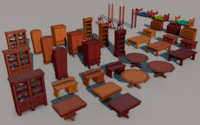 big low poly furniture pack by stonemason1 3docean