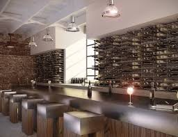 restaurant bar wine wall client things pinterest wine wall