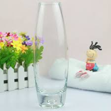Wholesale Glass Flower Vases Round Top Oval Shaped Clear Glass Vase Tall Wholesale Glass Vase