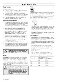 fuel handling fuel safety fuel husqvarna 122ld user manual