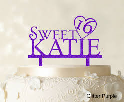 sweet 16 cake topper personalized name sweet 16 birthday cake topper mirror cake