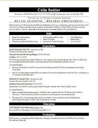 retail resume exles seasonal retail resume sle