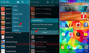 create folder on android samsung galaxy s5 how to add a folder shortcut to home screen in