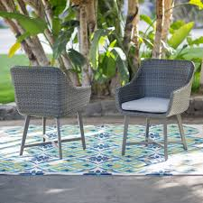 Wicker Patio Dining Chairs by Belham Living Adissinia 7 Piece All Weather Wicker And Concrete