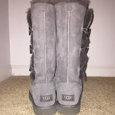 ugg boots sale bailey button triplet 48 ugg shoes ugg bailey button triplet grey boots from