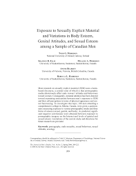 exposure to sexually explicit material and variations in body