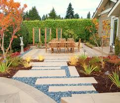trellis lighting patio contemporary with decorative pebbles