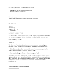 Explanation Letter Due To Negligence hr related letter format human resource management government