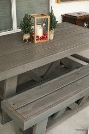 Diy Outdoor Patio Table Diy Outdoor Patio Table Benches Shanty 2 Chic