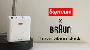travel alarm clocks images Supreme x braun travel alarm clock jpg