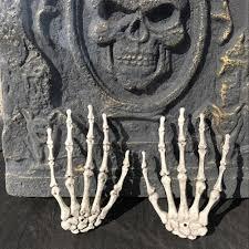 Skeleton Halloween Prop 1 Pair Halloween Skeleton Hands Haunted House Halloween Props
