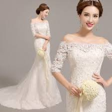 luxury lace mermaid wedding dress 2017 korean long sleeves vestido