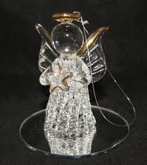 spun glass ornament figurine 24k gold plated